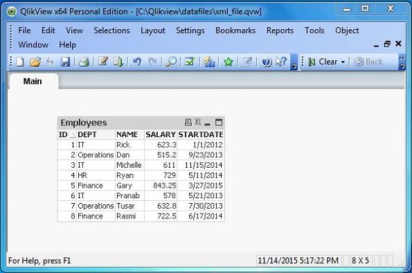 QlikView - XML File
