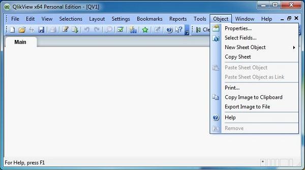 object menu
