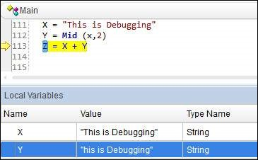 Debugging using Break Point