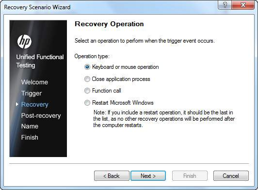 Recovery Scenario Manager Access