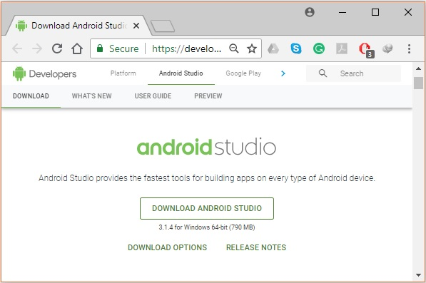 Environment Android Studio