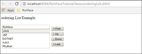 Rich OrderingList
