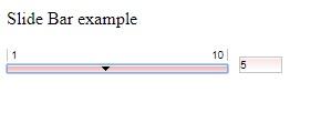 Slide Bar Example