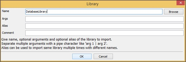 Database Library Name