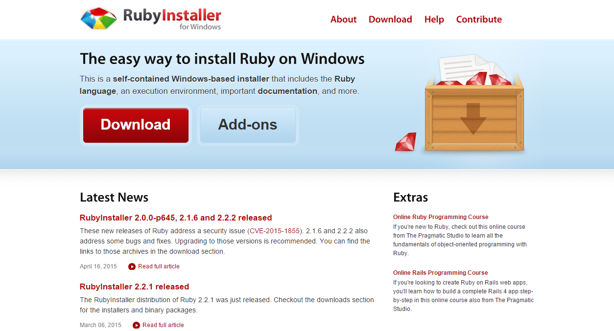 Ruby on rails installation step 2 install ruby baditri Images