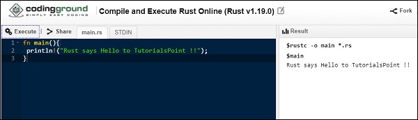 Rust - Quick Guide - Tutorialspoint