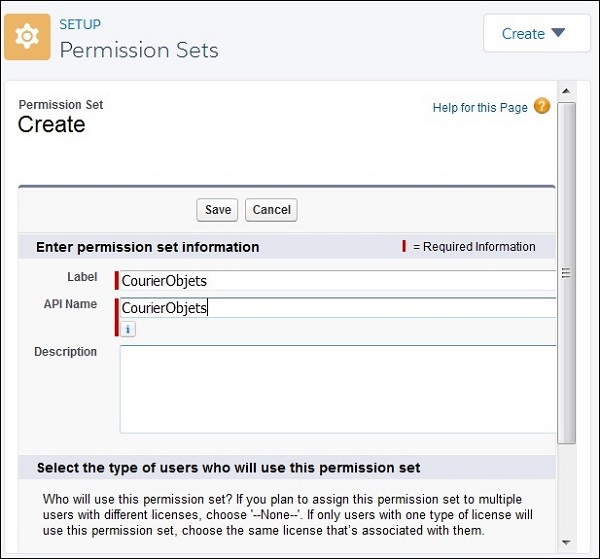 Create Permission Set