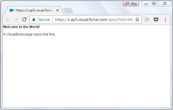 Visualforce page 2
