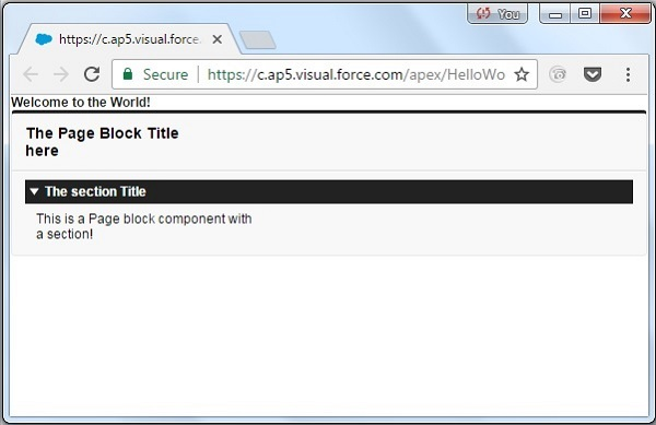 Visualforce page 4
