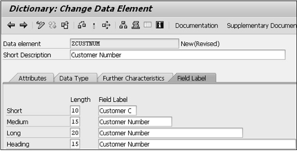 Change Data Element