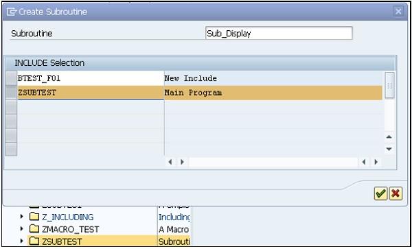 SAP ABAP - Subroutines - Tutorialspoint