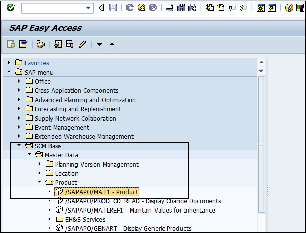 SAP APO - Master Data Setup - Tutorialspoint