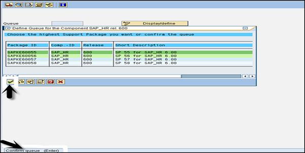 SAP Basis - Importing a Queue