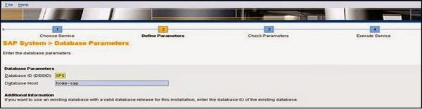 SAP Database Parameters