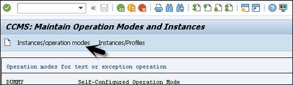 SAP Operation Modes