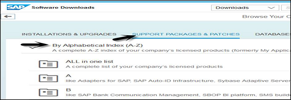 SAP Software Downloads