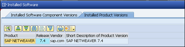 SAP Software Version