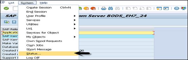 SAP Status