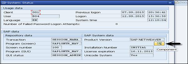 SAP System Status