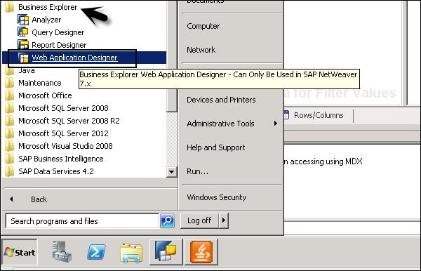 SAP BEx - Web - Tutorialspoint