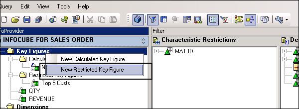 SAP BEx - Query Designer Features - Tutorialspoint