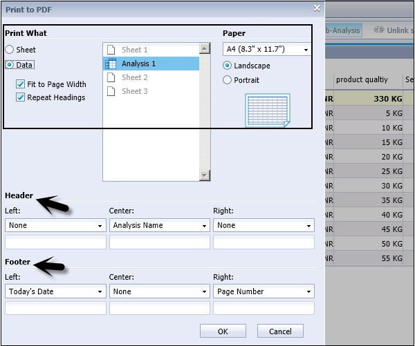 SAP BO Analysis - Export Options