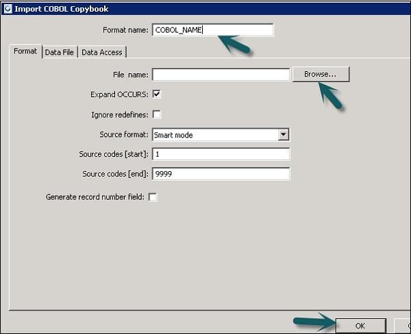 SAP BODS - COBOL Copybook File Format