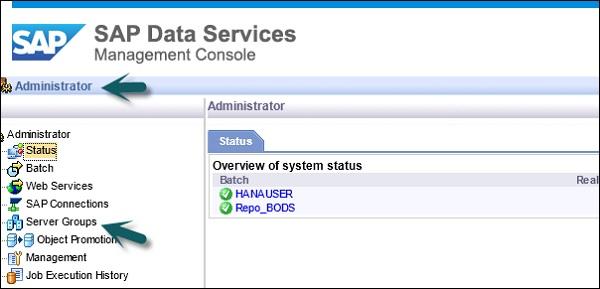 Sap bods dsmc modules for Job serveur