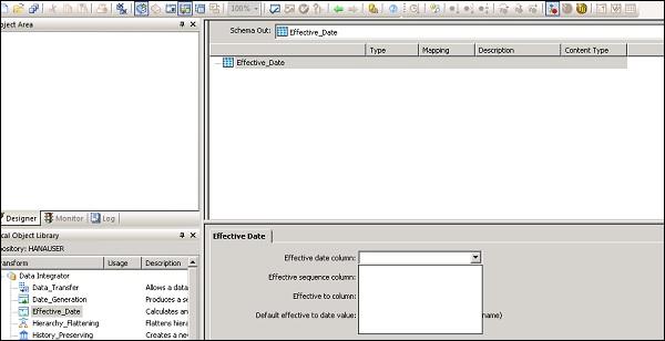 sap bods adding transform to a dataflow