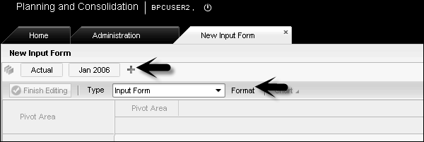 Developing Input Form