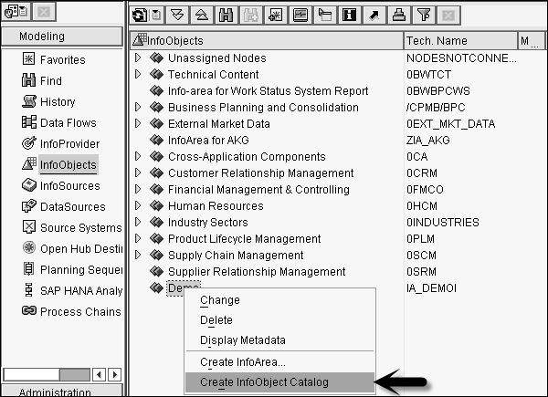 how to create infoobject in sap bw