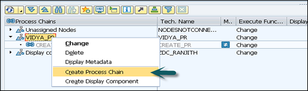 Create Process Chain