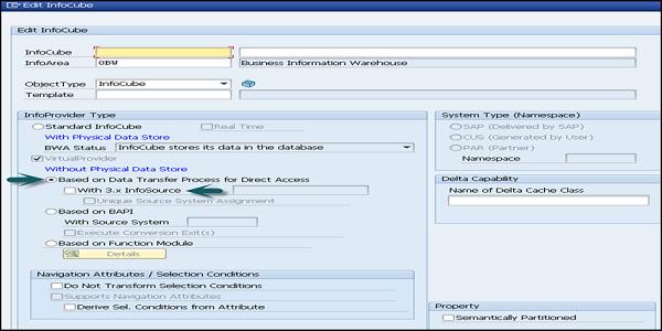 SAP BW - Virtual InfoProvider - Tutorialspoint