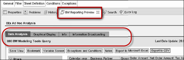 Preview BW Query