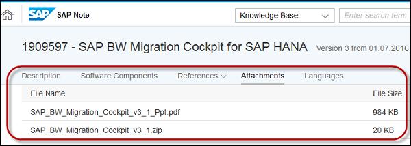 SAP BW on HANA - Migration Tools - Tutorialspoint
