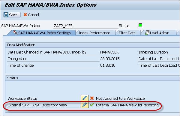 HANA Views for BW InfoProviders - Tutorialspoint