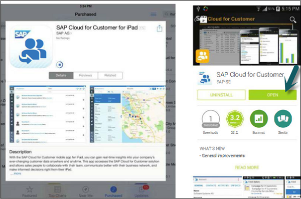 SAP C4C Native App