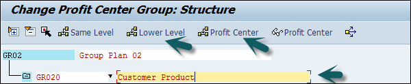 Assign Profit Center Group