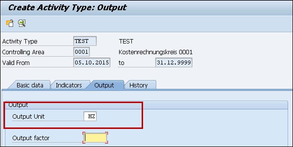 SAP CCA - Activity Types
