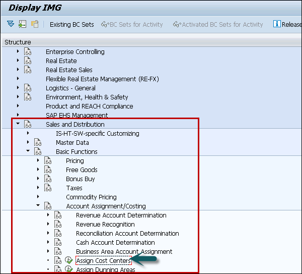Sap Cca Linking Order Reason