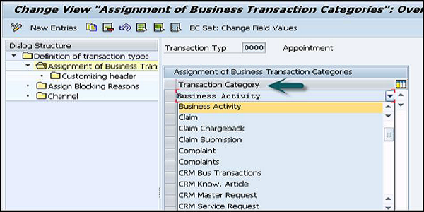 Business Transaction Type