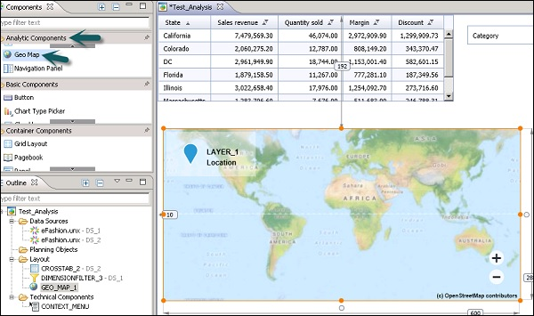 SAP Design Studio - Geomap - Tutorialspoint on java map, california republic map, great plains map, sql map, qualcomm map, project management map, purple map,
