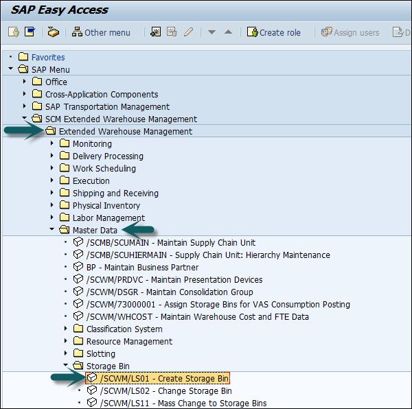 How to Create Storage Bins and Block them for Put Away?  sc 1 st  Tutorialspoint & SAP EWM Organization Units