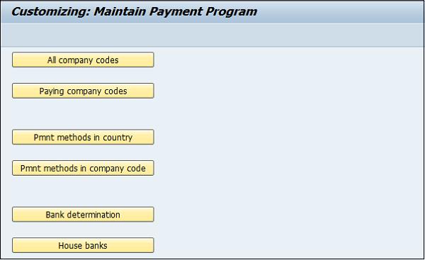 SAP FI - Automatic Payment Run