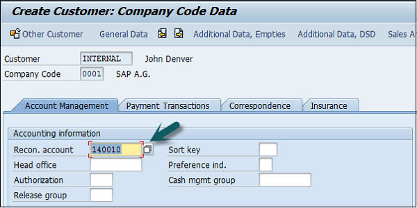 Create Company Code Data