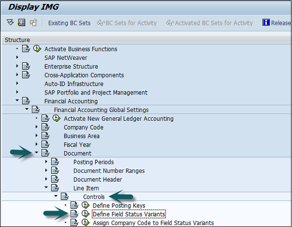 What does document header control in sap fico