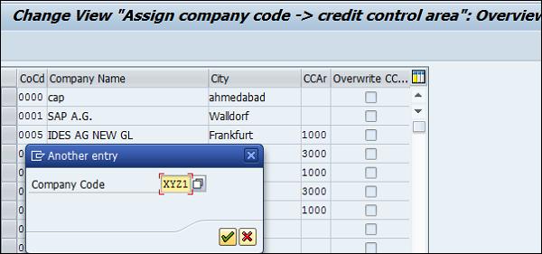 Enter Company Code