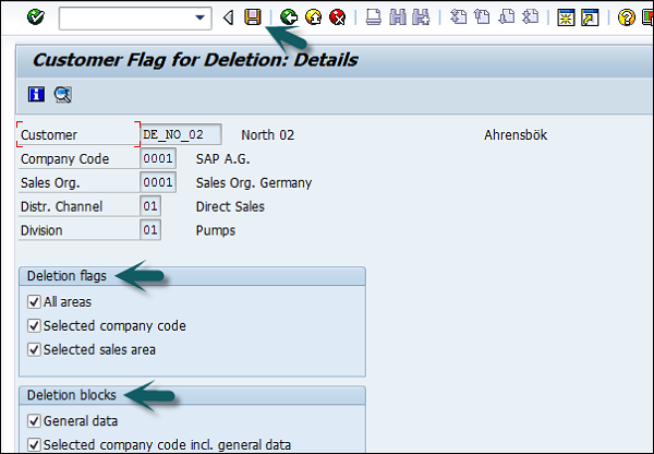 Selecting Deletion Flag
