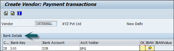 Vendor Payment Transaction