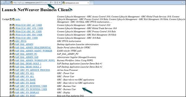 SAP GRC - Navigation - Tutorialspoint